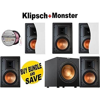 Amazon Com 5 Klipsch R 3650 W Ii In Wall Speaker Each