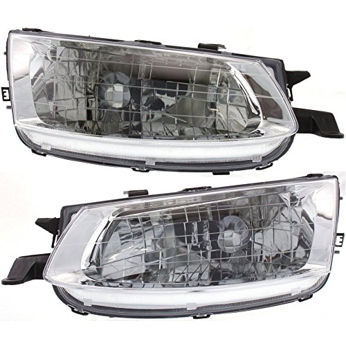 (Halogen Headlight Set Compatible with 1999-2001 Toyota Solara Left & Right w/Bulb(s) Pair)