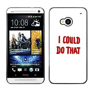 Caucho caso de Shell duro de la cubierta de accesorios de protección BY RAYDREAMMM - HTC One M7 - YO PODRIA HACER ESO