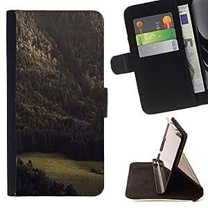 For Samsung Galaxy S4 IV I9500 Case , Vignette Summer Green Woods- la tarjeta de Crédito Slots PU Funda de cuero Monedero caso cubierta de piel