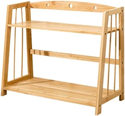 Bamboo Book Storage Rack Pequeña unidad de estantería para la sala de estar Estante de pie