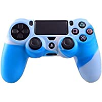 Silicone Rubber Case Skin Cover for PS4 Controller Blue