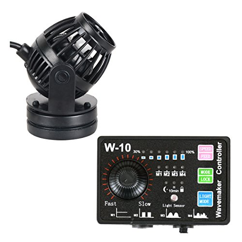Marin Mount (Uniclife 1058 GPH Controllable Wavemaker with W-10 Controller and Magnet Mount for Marine Freshwater Aquarium Circulation Pond)