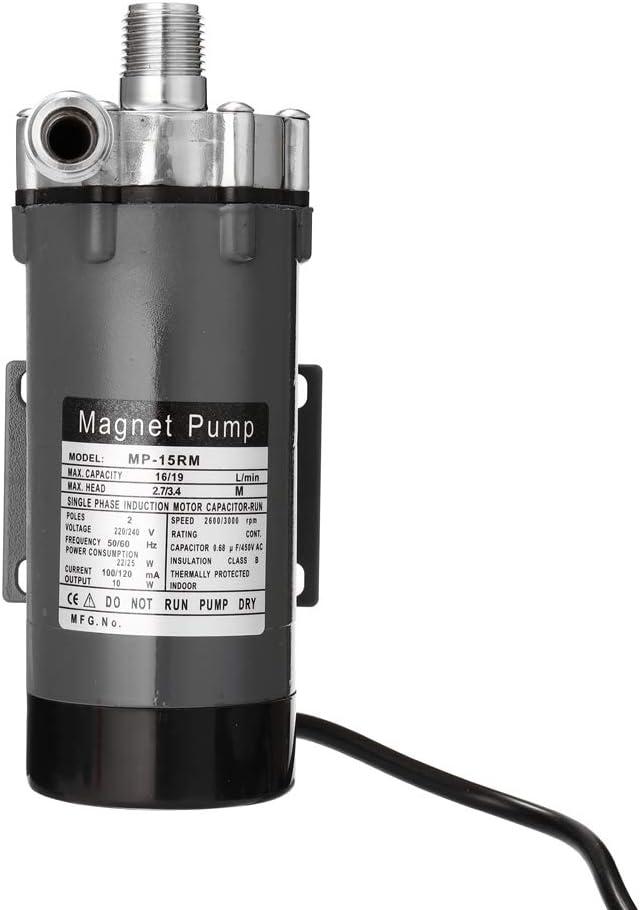 KKmoon Bomba de Cerveza Casera,Bomba Magnética de Acero Inoxidable Resistente a Altas Temperaturas,Bomba de Circulación de Mosto de Grado Alimenticio
