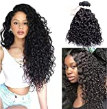 Brazilian Virgin Hair 3 Bundles Water Wave Human Hair Extensions Unprocessed Brazilian Virgin Water...