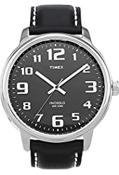 Timex Men's #T28071 Easy Reader Watch With Black Leather Band