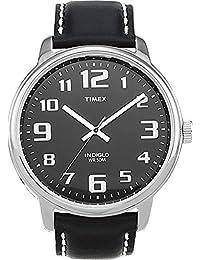 Timex Men's T28071 Easy Reader Black Leather Strap Watch