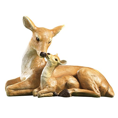 Mother Deer Garden Statue Brown