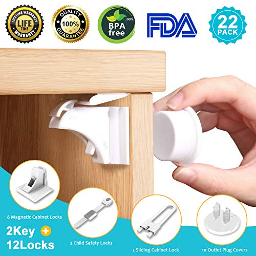 Cabinet Lock Child Safety Baby Proofing Kit -[23-Pack/4 In 1 ...