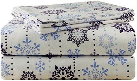 Amazon Com Pointehaven 200 Gsm Flannel Sheet Set Cal King Snow Drop Home Kitchen
