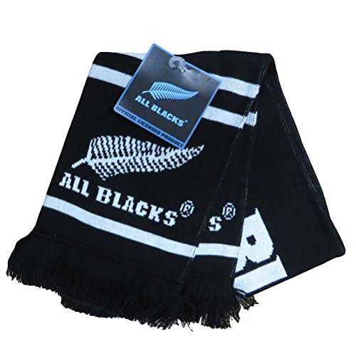 - Brand Co. Official New Zealand All Blacks Rugby Kids Classic Jacquard Scarf [Black]