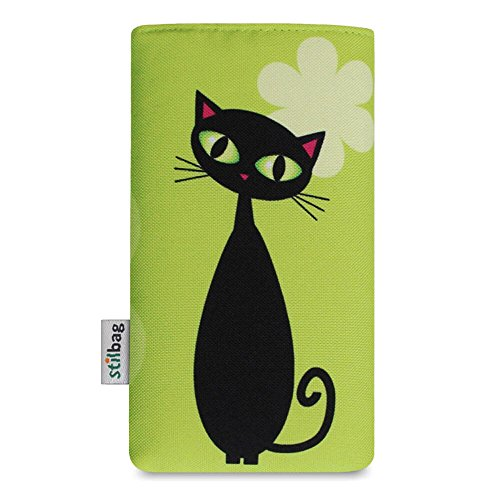 Stilbag Etui 'MIKA' pour Apple iPhone 6s plus - Dessin: Schwarze Katze