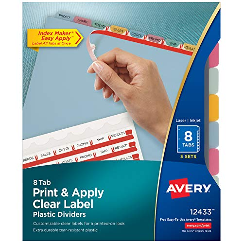 (Avery 12433 Index Maker Translucent Dividers with Clear Labels )