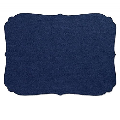 Bodrum EasyCare Presto Curly Navy Rectangle Placemats (Tablemats) set/6 by Bodrum