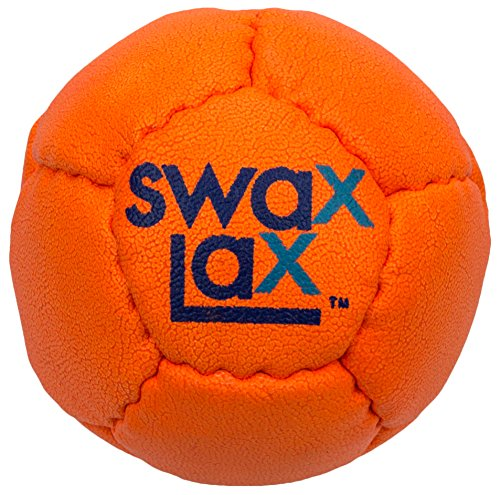 SWAX LAX Lacrosse Training Ball (Orange) - Same Size and Weight as Regulation Lacrosse Ball but Soft - No Rebounds, Less Bounce Practice Ball