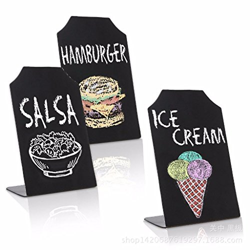 Event Menu Card (Eshylala 1pcs Erasable Chalkboard Memo Message Signs Restaurant Parties Place Cards Buffet Menus and Events Weddings)