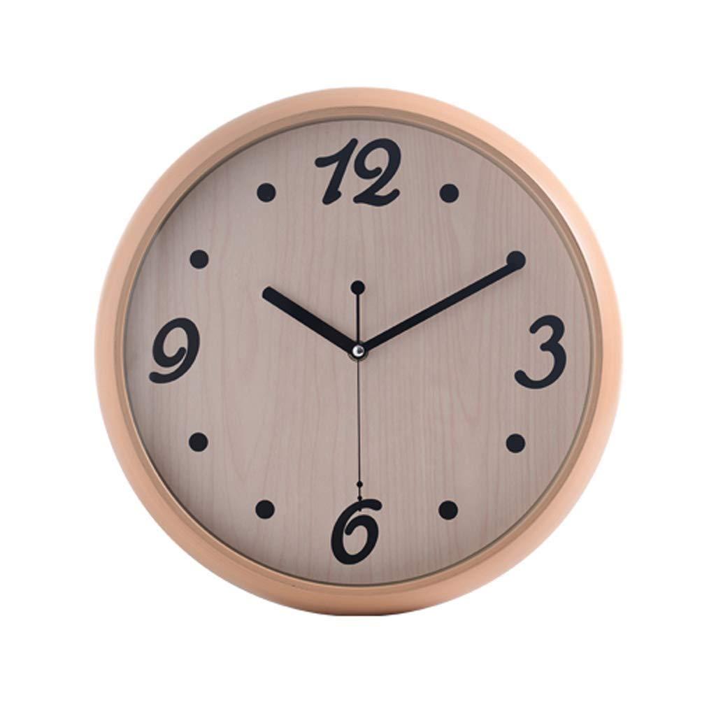 YHJBJM 現代のシンプルなファッション家族のリビングルームの壁時計、ヨーロッパスタイルのレトロな創造的人格ミュートクロック14インチドット数 (色 : A)  A B07R48DTQL