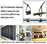 50 Pcs Black Cable Tie Base Saddle Type Mount Wire