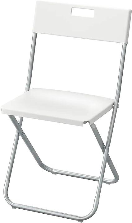 Ikea GUNDE Sedia pieghevole, colore: Bianco: Amazon.it