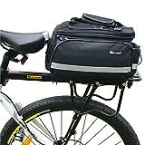 West Biking 10-25Lb Capacity Black Multi-functional Bicycle Rear Seat Trunk Bag Portable Bag Carrier Pannier
