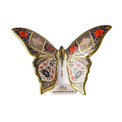 e501927a42d Royal Crown Derby Old Imari Solid Gold Band SGB Butterfly  Amazon.co.uk   Kitchen   Home