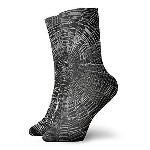 Novelty Cool Crazy Funny Dress Socks - Spider Web Socks - Gifts for Men & Women ()
