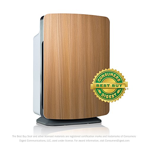 Alen BreatheSmart Classic Large Room Air Purifier - HEPA Filter for Allergies & Dust - 1100 sqft - Oak - with Extra Filter