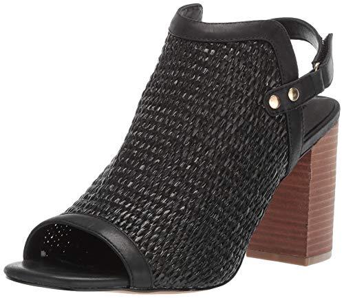 STEVEN by Steve Madden Women's Sweep Heeled Sandal, Black/Multi, 8 M US