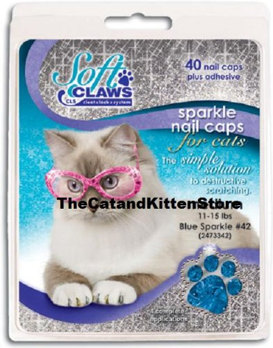 Image of Feline Soft Claw Nail Caps S Blu Sprk