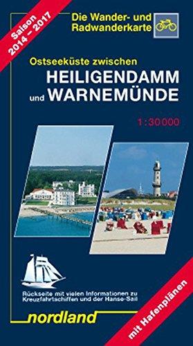 Ostseeküste zwischen Heiligendamm und Warnemünde: 1:30000, Wander- und Radwanderkarte. 2018-2021 (Deutsche Ostseeküste)