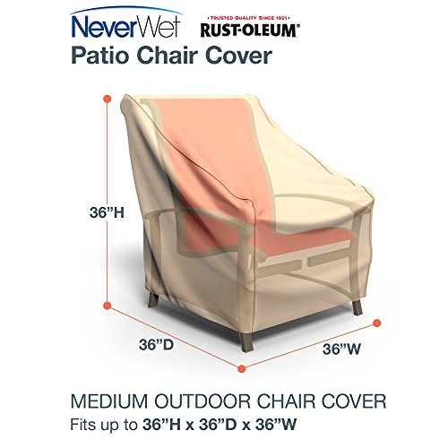 Rust-Oleum NeverWet Patio Chair Cover, Medium (Tan) by EmpireCovers (Image #1)