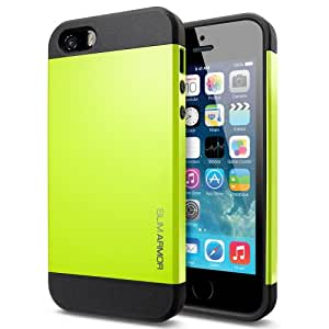 FUNDA SLIM ARMOR PARA IPHONE 5 - COLOR VERDE LIMA -