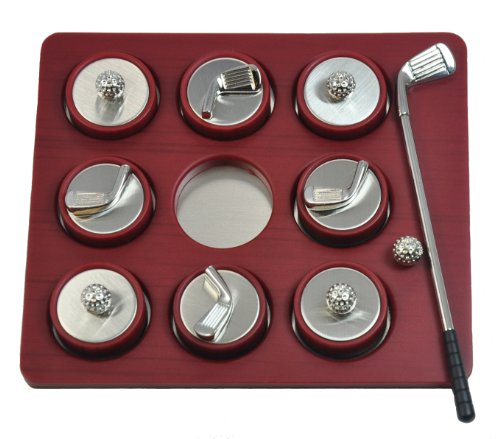 "Navika PGA Mini Tic-Tac-Toe Golf Game, Red, 4 3/4 x 4 3/4"""