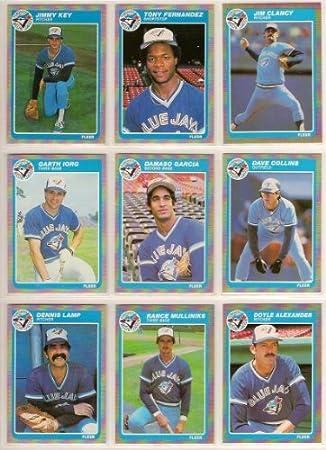 Toronto Blue Jays 1985 Fleer Baseball Team Set W Year End Update