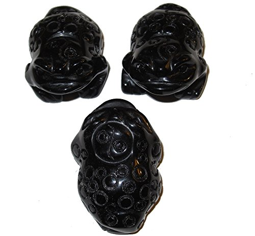 Animal Frog Onyx Black 01 Set of 3 Coin Money Fortune Chinese Lucky Yin Yang (Onyx Coin Set)