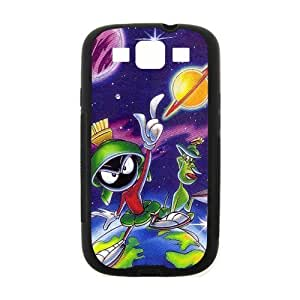 LJF phone case Cute Nice Design Cartoon Movie Marvin the Martian Printing for SamSung Galaxy S3 I9300 Case