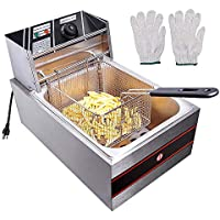 Yescom 2500W 6L Commercial Electric Countertop Deep Fryer