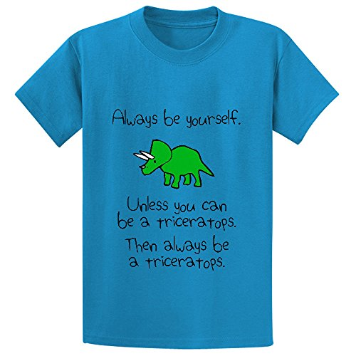 Price comparison product image Chas Always Be Yourself Unless You Can Be A Triceratops Boys' Customized T Shirt