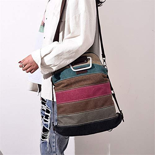 ragazze Zaini Women Bags Shoulder Canvas Vhvcx femminile Zaino Strip femminili per 5znxnYwq6