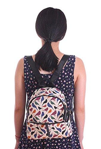 Tier Gedruckt Canvas Klein Tasche Damen Rucksack Daypack Lässige Messenger Bag Schultertasche rosa