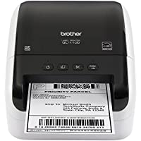 Brother QL-1100 Wide Format, Postage and Barcode Professional Thermal Label Printer, Black