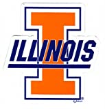 Game Day Outfitters NCAA Illinois Fighting Illini Car Magnet Sm