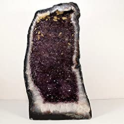 """Extra Large 19.3"""" 52.7 lb Gorgeous Cathedral Purple Amethyst Geode w/Quartz Crystal Extra Grade Natural Druzy Mineral Cluster Gemstone - Brazil"""