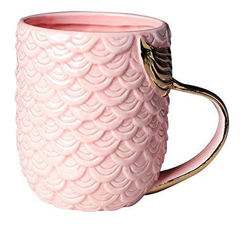 123Arts Ceramics Mermaid Large Capacity Coffee Mug Water Tea Cup with Handle (Coffee Mermaid Cup)