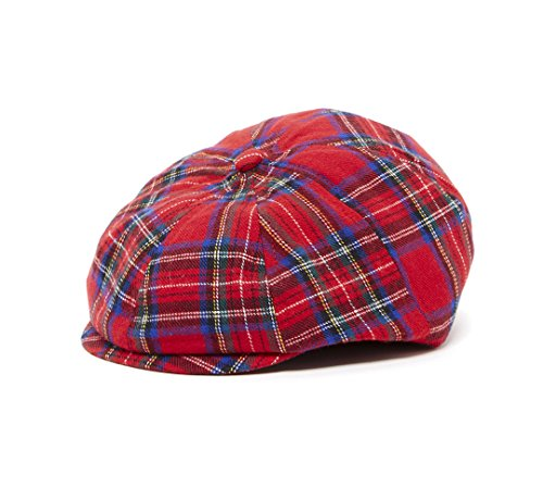 Born to Love Scally Cap - Baby Boy's Ring Bearer Pageboy Christmas Plaid Vintage (Plaid Vintage Hat)