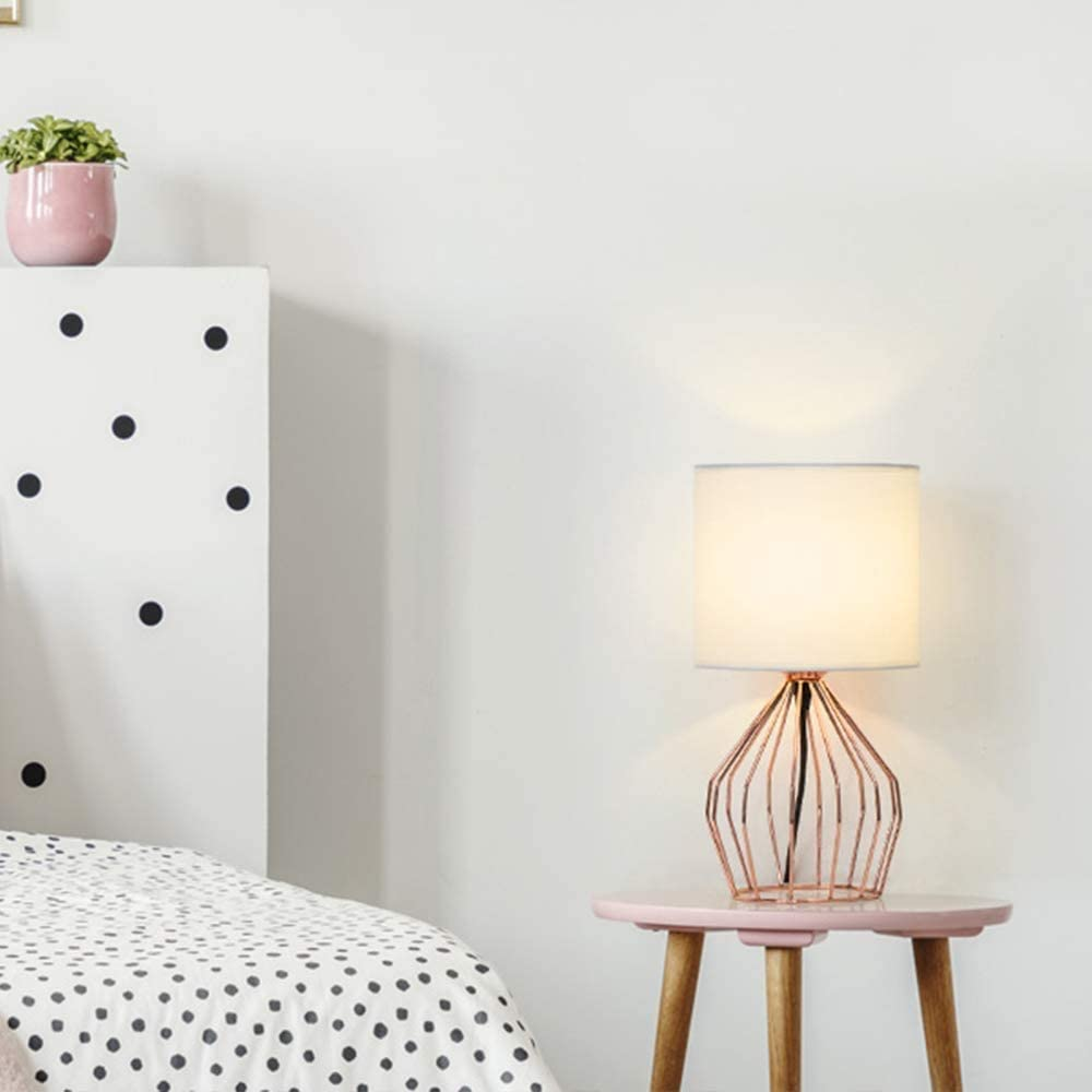 Hollowed Out Base Bedside Table Lamp