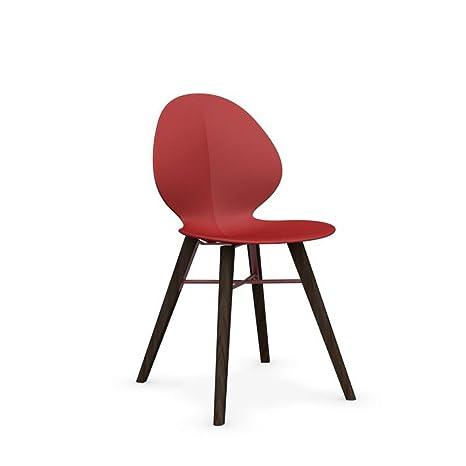 Calligaris Basil W sedia design in legno di frassino Smoke ...