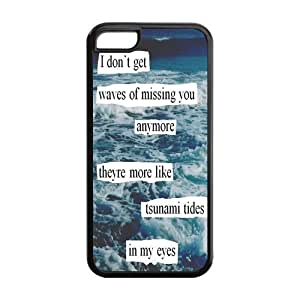 5C Phone Cases, Quotes of Ed Sheeran Hard TPU Rubber Cover Case for iPhone 5C