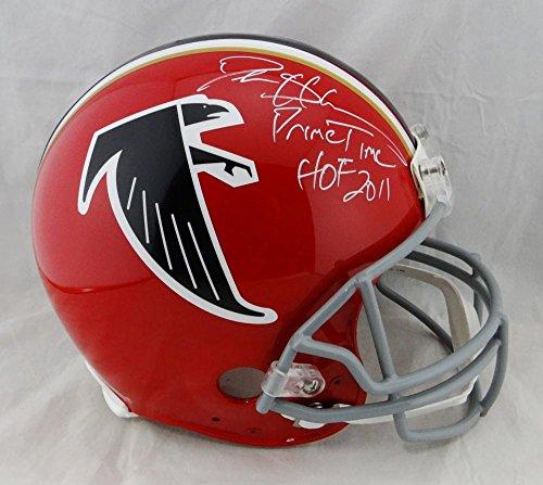 Deion Sanders Helmet - Deion Sanders Signed Falcons F/S Proline 66-69 Helmet w/2 Insc - JSA W Auth Wh