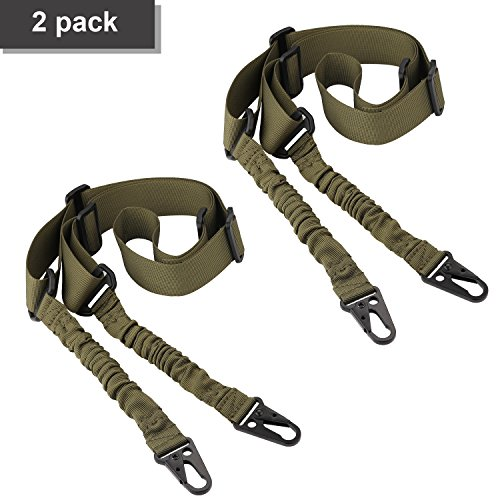 Review ACCMOR 2 Point Rifle Sling, 2 Pack Multi-Use Upgrade Version Two point Gun Sling with Length Adjuster for Hunting, Shooting